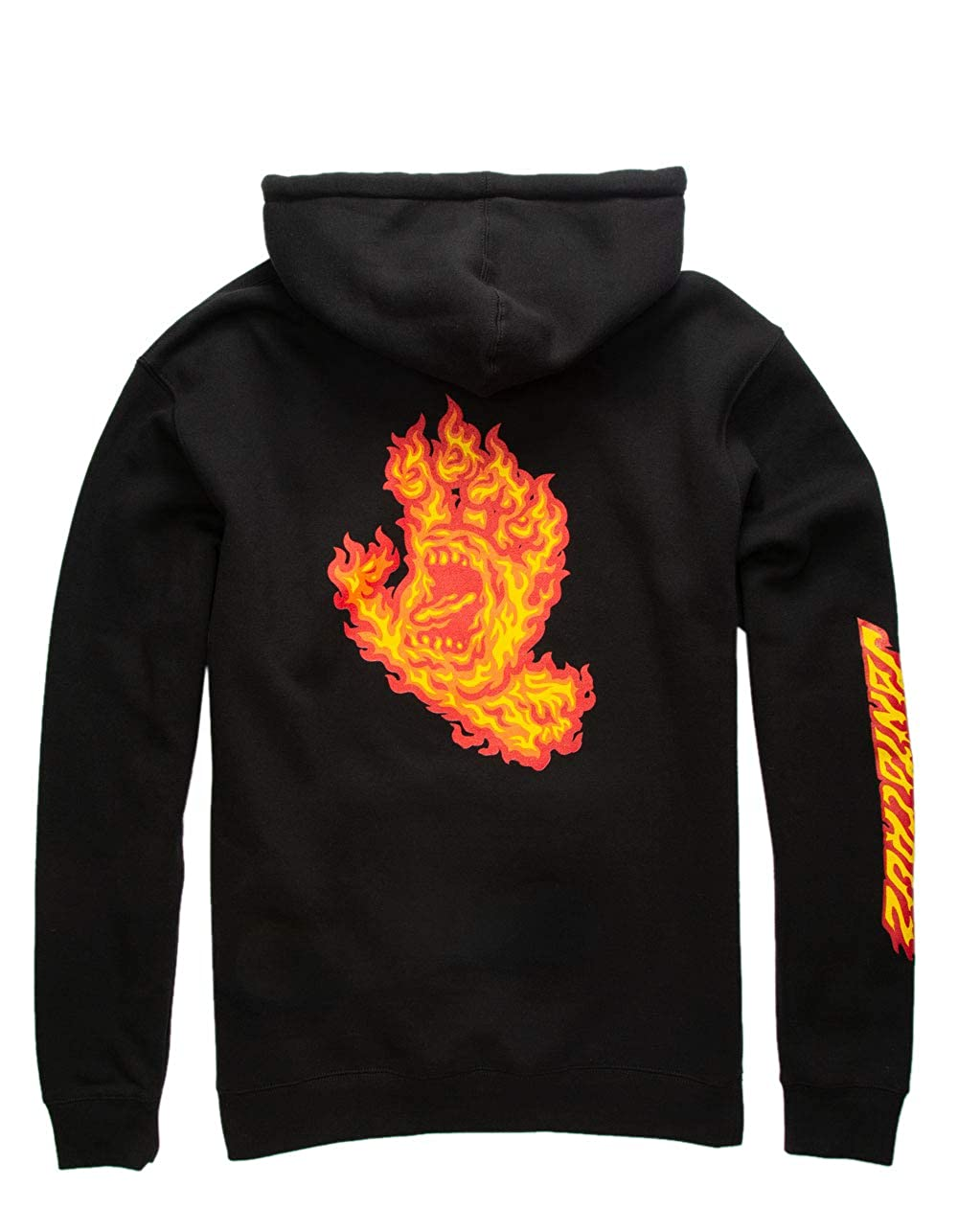 XL Black Santa Cruz Flame Hand Hoodie