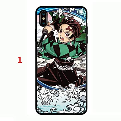 Demon Slayer Kimetsu No Yaiba Tanjirou Nezuko Phonecase Phonecover Steel Glass Tpu Phone Case Cover For Iphone Xs Max 1