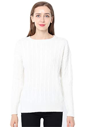 Ailaile Cashmere Sweater Women Winter Round Neck Twist Thick Pullover Wool  Bottoming Loose Jumper (M 394eb7fe8
