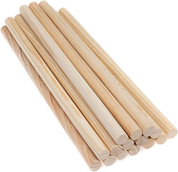 10x 0,5 cm freneci Runde 5mm Dicken Unfinished Holz Stick Holz D/übel Rod f/ür Kinder Modell Der DIY Handwerk Hause Hochzeit Party Dekoration
