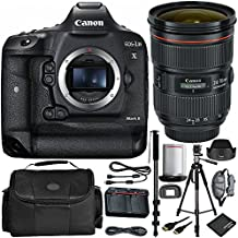 Canon EOS-1D X Mark II DSLR Camera Bundle with Canon EF 24-70mm f/2.8L II USM Lens and Manufacturer Accessories (12 Items)