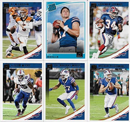 Buffalo Bills 2018 Donruss NFL Football Complete Mint 10 Card Team Set with Thurman Thomas, AJ McCarron, LeSean McCoy, Josh Allen Rookie card plus