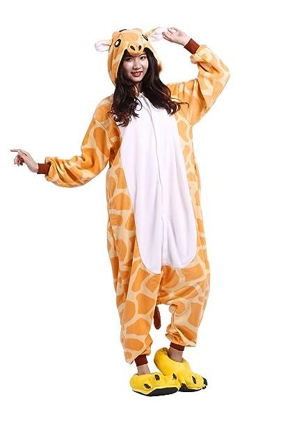 Hstyle Adulto Unisex Mamelucos Pijama De Halloween Cosplay Disfraces Trajes Jirafa: Amazon.es: Ropa y accesorios