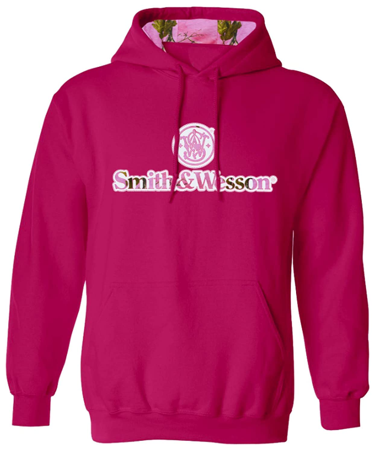 Officially Licensed Smith /& Wesson S/&W Womens Pink Applique Logo Pullover Hoodie