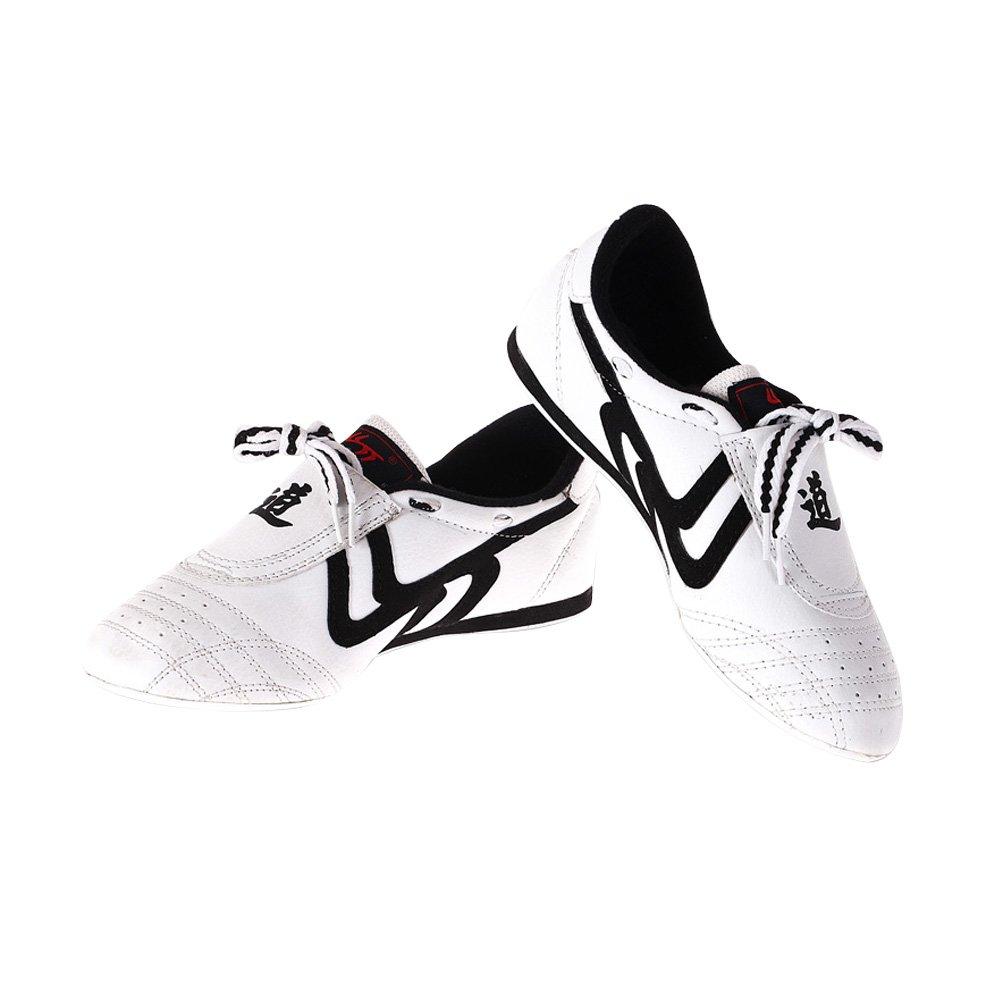 Chaussures Taekwondo Sports Chaussures Arts Martiaux Antidérapant Léger Respirantes Comfortable pour Adultes - Noir et Blanc VGEBY