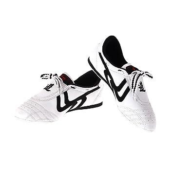 d553f1ecf7e1 Chaussures Taekwondo Sports Chaussures Arts Martiaux Antidérapant Léger  Respirantes Comfortable pour Adultes - Noir et Blanc