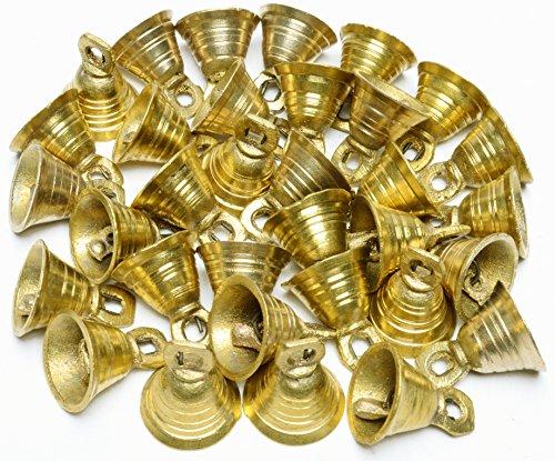 1″H Lot 30 Brass Bells Elephant Cow Camel Decor Bells Vintage Style Indian Craft