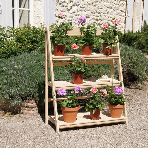 The Big Stage Plant Stand in Natural Wood Great Gift for the