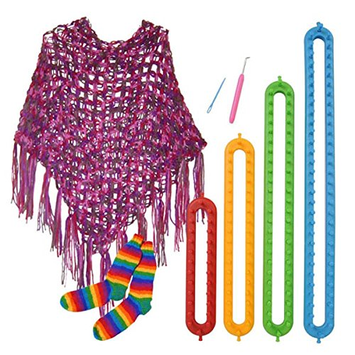 Fincos 4 Sizes DIY Scarf Shawl Hat Socks Blanket Knitter Long Looms ABS Plastic Weaving Tools by Fincos Arts, Crafts & Sewing