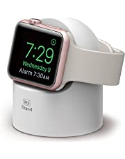 elago W2 Stand Compatible with Apple Watch Series 4 (2018) / Series 3 / Series 2 / Series 1 / 44mm / 42mm / 40mm / 38mm - [Nightstand Mode][Cable Management][Scratch-Free Silicone] - White