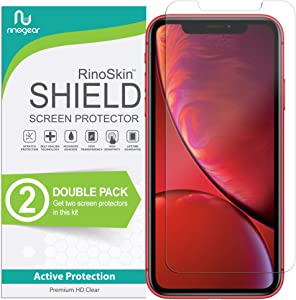 (2-Pack) RinoGear Screen Protector for Apple iPhone 11, XR Case Friendly Apple iPhone 11, XR Screen Protector Accessory Full Coverage Clear Film