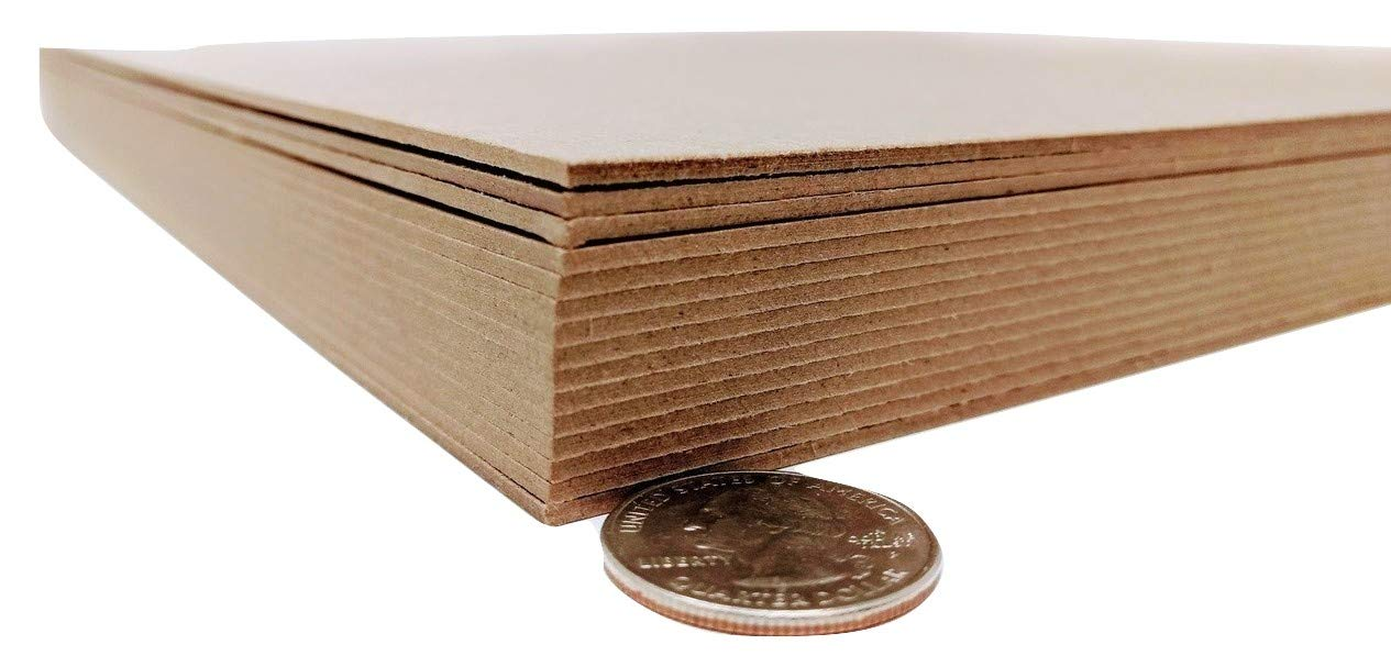 8.5 x 11 Inches 70 Point Kraft Heavy Duty Chipboard Sheets - 15 Per Pack