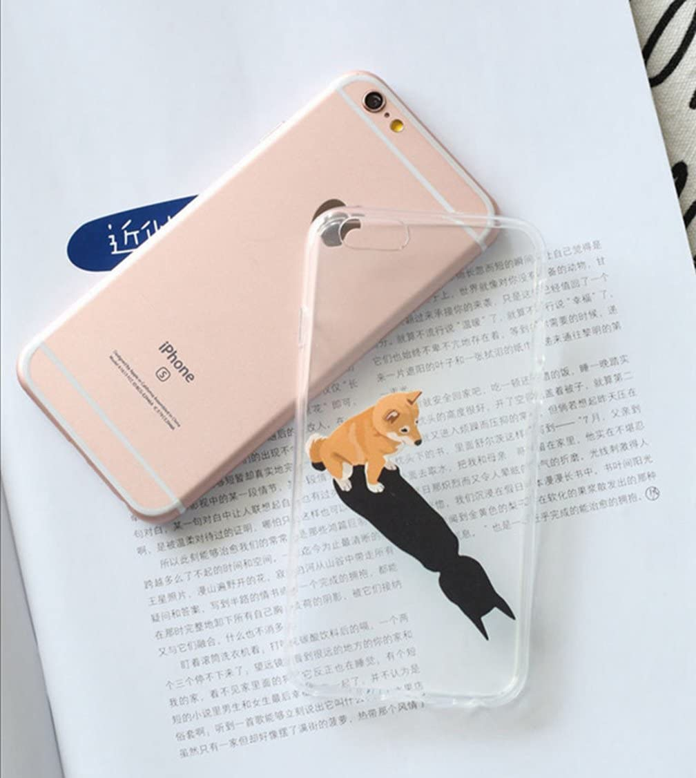 Sleeping bear Lovely Pet Cute Animal Cartoon Little Dog phone Case Cover,Slim,Shock-Absorption Bumper,Anti-Scratch TPU Soft Cover with Lanyard-Border Collie iPhone 7//iPhone 8 Case Cover