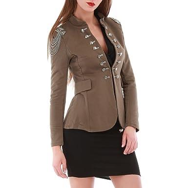 ef1a9e30f145b La Modeuse - Veste Style Officier Femme  Amazon.fr  Vêtements et ...