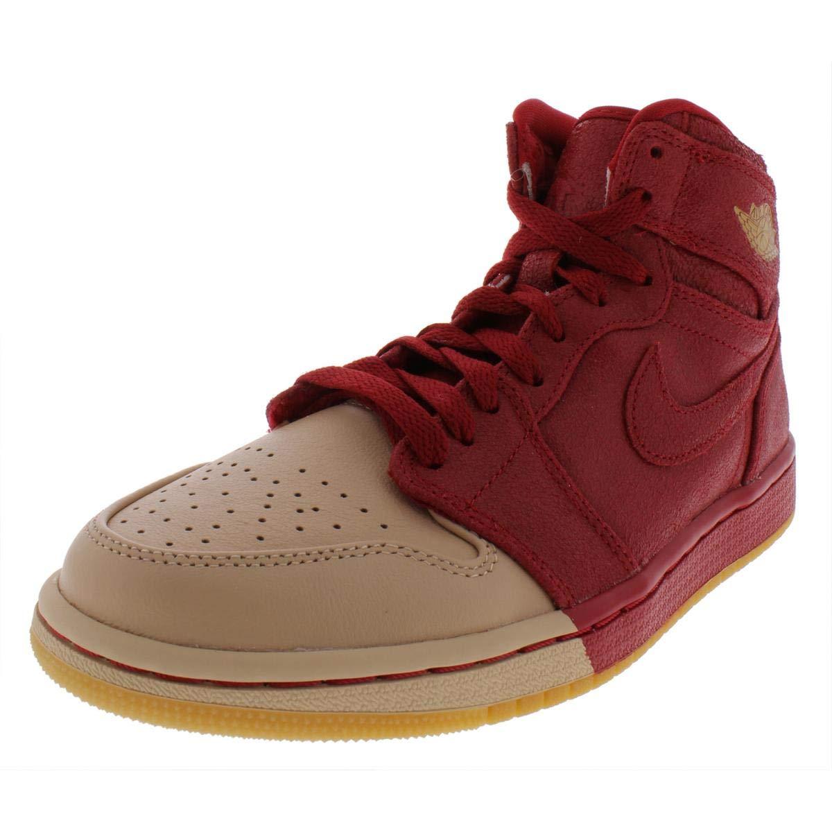 Jordan Nike Women's 1 Retro Hi Premium Basketball Shoe 9 Red by Jordan