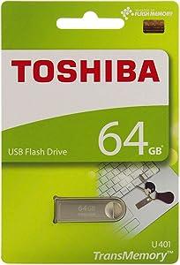 Toshiba USB2.0 Flash Drive 64GB USB 2.0 Flash Disk TransMemory U401 Metal USB Memory Stick (THN-U401S0640A4)
