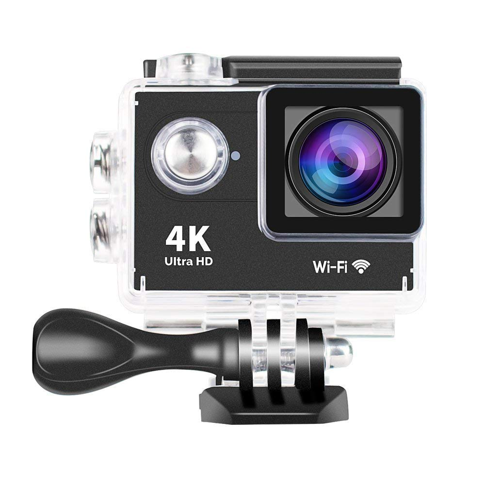Yuntab Action Sports Camera Mini 30-Meter Waterproof Ultra HD 4K Sport DV H9 Helmet Camera Cam DV Action Camcorder Wi-Fi Remote Control With Charger