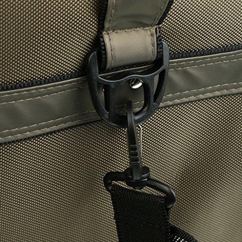 Gazechimp Tragetasche Angeln Zubehör Tasche mit 3 Schichten & Verstellbar Gürtel für Sport Arten