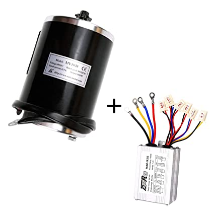 ZXTDR 48v 1000w Brushed Speed Motor and Controller Set for Electric Scooter  Go Kart Bicycle e Bike Tricycle Moped