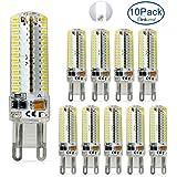 ELINKUME Lámparas led g9, 7W reemplazo Bombillas halógenas de 50W, Blanco frío 6000K,