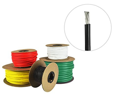 amazon com 6 awg marine wire tinned copper boat battery cable rh amazon com Marine Boat Wiring Diagram Simple Boat Wiring