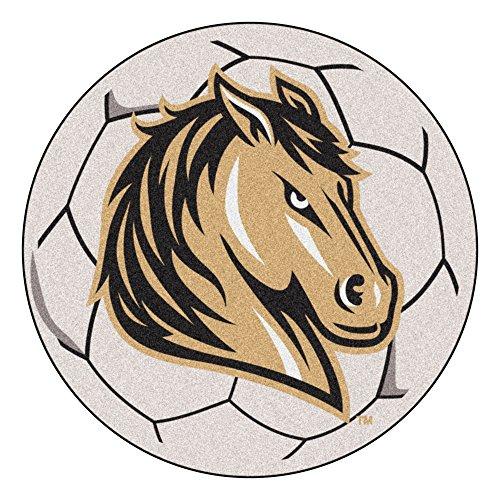 (NCAA Southwest Minnesota State University Mustangs Soccer Ball Mat Round Area Rug)