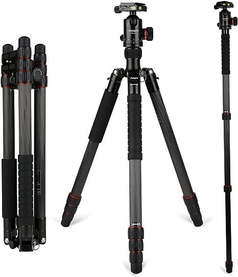 Fibra De Carbono Trípode de cámara-Fotopro X-Go Trípode Kit Negro