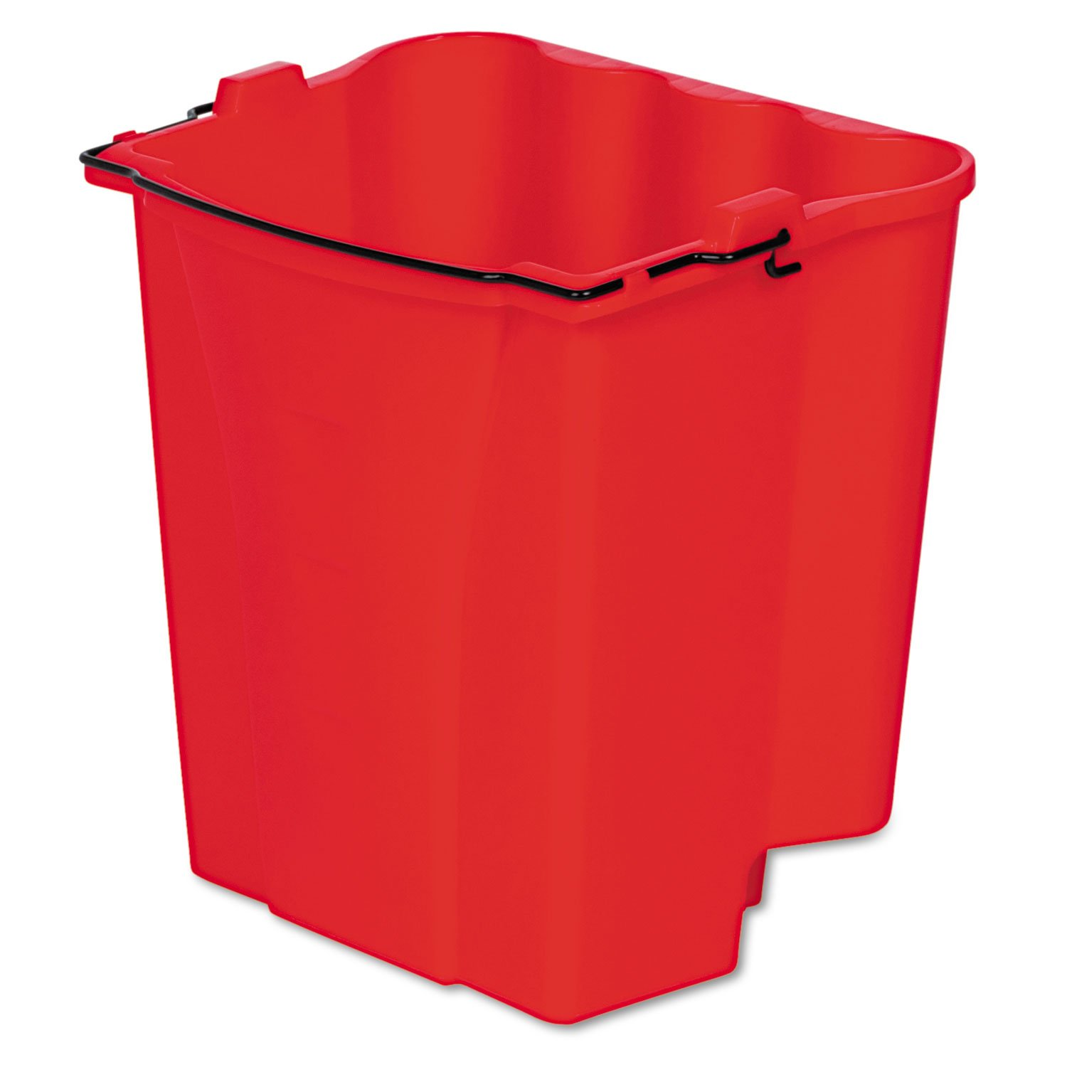 Rubbermaid Commercial 9C74RED Dirty Water Bucket for Wavebrake Bucket/Wringer, 18qt, Red