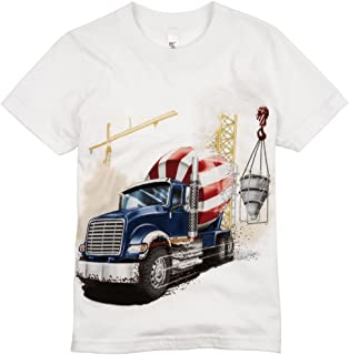 product image for Shirts That Go Little Boys' Big Blue Cement Mixer Truck T-Shirt