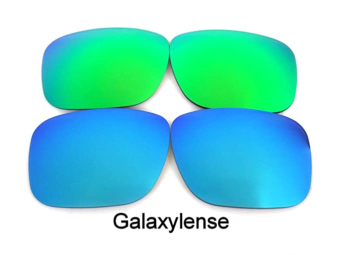 6a1a42020a Amazon.com  Galaxy Replacement Lenses for Oakley Holbrook Blue Green ...