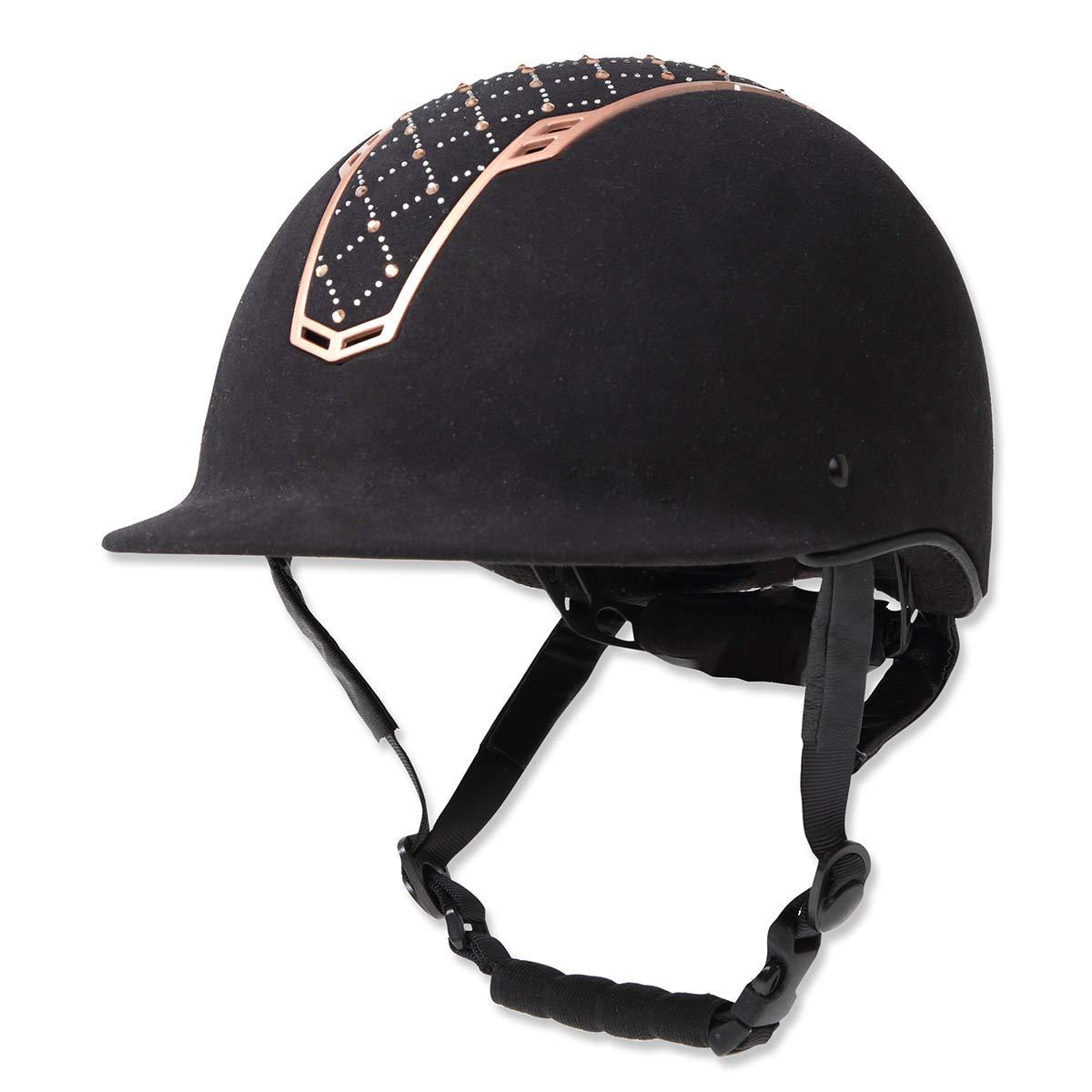 乗馬 ヘルメット プロテクター 乗馬帽 帽子 EQULIBERTA グレイス ベルベットダイヤル調整ヘルメット 乗馬用品 馬具 Medium  B07MC9MPVT