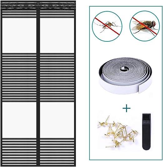 "1// 2// 3 sets 75/""X20/"" Mesh Hands-Free Screen Door Magnetic Anti Mosquito Bug HOME"