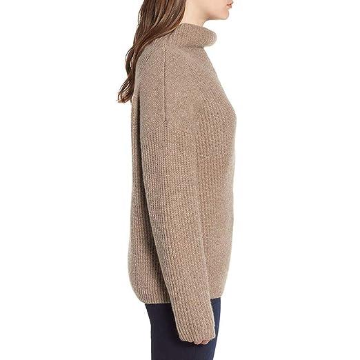 Longra ❤ ❤ Moda Mujer Invierno Color sólido Punto Manga Larga Suéter Blusa Pantalones y Falda fáciles: Amazon.es: Ropa y accesorios
