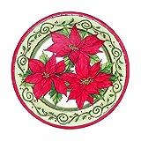 "Christmas Paper Plates ""Pointsettia"" (6 3/4"") - 12 cnt"