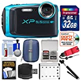 Fujifilm FinePix XP120 Shock & Waterproof Wi-Fi Digital Camera (Sky Blue) with 32GB Card + Case + Battery + Selfie Stick + Float Strap + Kit