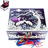 Jewelry Boxes Organizers Music Boxes 2 Darwers Mother of Pearl Gift Items LM33Purple