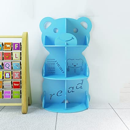 Shelf Bookshelf Child Picture Book Rack Kindergarten Bookcase Cartoon Toy Storage Blue Green Pink