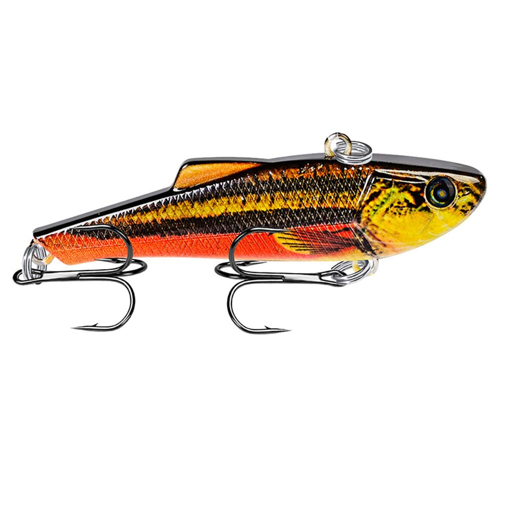 HighlifeS Fishing Bait Newest Artificial Fake Fish Bait More Colors Fishing Lure Bait Bionic Fishing Gear 1Pc (J)