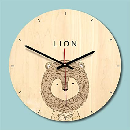 SHFISIKI Creative Wooden Wall Clock Modern Design Living Room Wall Watch Mute Quartz Reloj De Pared