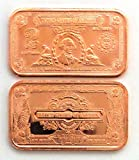 1 - $2 Porthole Deuce Silver Certificate | 1 AVDP oz .999 Fine Copper Ingot - - -