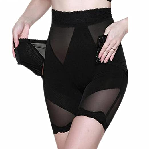 0955f24509e95 AVENBER Women Body Shaper High Waist Lace Tummy Trimmer Control Butt Lift Shapewear  Panties at Amazon Women s Clothing store