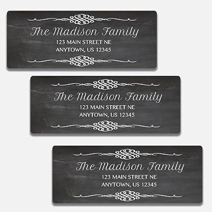 amazon com 60 personalized chalkboard themed return address labels