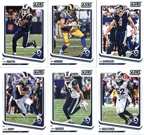 2018 Score Los Angeles Rams Veteran Team Set of 11 Cards: Marcus Peters(#161), Jared Goff(#166), Todd Gurley II(#167), Aaron Donald(#168), Sammy Watkins(#169), Cooper Kupp(#170), Robert Woods(#171), Alec Ogletree(#172), Tavon Austin(#173), Tyler Higbee(#174), Greg Zuerlein(#175)