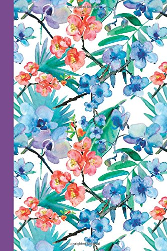 journal-watercolor-flowers-red-and-blue-purple-6x9-dot-journal-journal-with-dotted-pages-watercolor-flowers-dot-journal-series