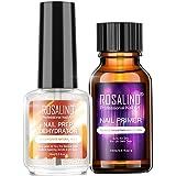 Rosydream 2PCS Professional Natural Nail Prep Dehydrate Nail Primer Strong Adhesion Nail Art Kit for Acrylic Powder Nail Gel DIY Tools Nail Glue for Women Gift