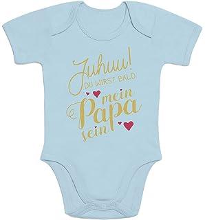 Mister Merchandise Baby Body Ich kann es kaum erwarten Dich zu sehen Papa Wiedersehen Weg Reise Wei/ß Langarm 6-12