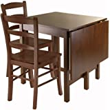 Winsome Lynden 3 Piece Dining Table With 2 Ladder Back Chairs