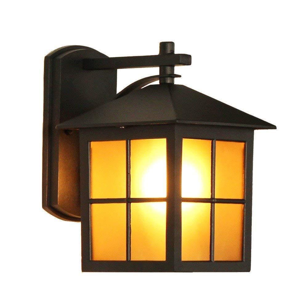 WHKHY Legge Le luci della Camera da Letto Impermeabile Giardino Esterno Villa Fari antiche lampade da Giardino, 24  26,5 cm