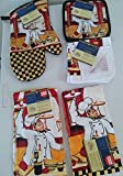 7 Piece Fat Chef Themed Kitchen Linen Set (7)