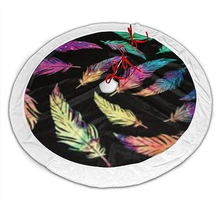 CZLXD Faldas de árbol de Navidad con Plumas Coloridas para ...
